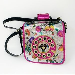 Betsey Johnson Kitsch Off The Hook Telephone Bag